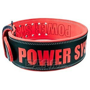 Power System Power Beast Pas skórzany (PS-3830) red 1/1