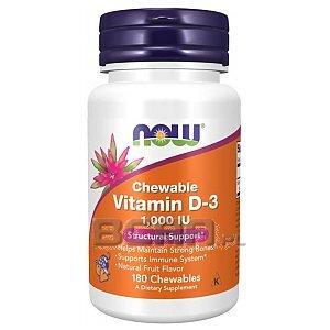 Now Foods Vitamin D3 1000IU 180tab. do żucia 1/1