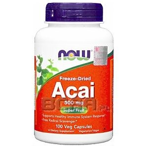 Now Foods Acai 500mg 100kaps. 1/1