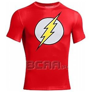 Under Armour Rashguard Męski Alter Ego Compression Shortsleeve Flash 1244399-605 czerwony 1/6