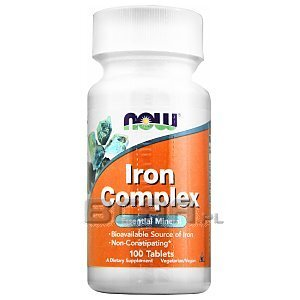 Now Foods Iron Complex 100tab. [promocja] 1/2