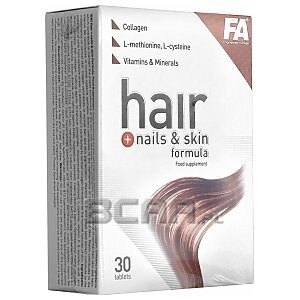 Fitness Authority Hair + Nails & Skin Formula 30tabs. 1/1