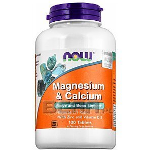 Now Foods Magnesium & Calcium with Zinc and Vitamin D3 100tab. [promocja] 1/2
