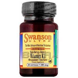 Swanson Vitamin K2 100mcg 30kaps. Wyprzedaż! 1/1