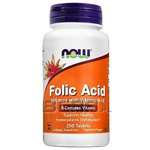 Now Foods Folic Acid 800mcg 250tab. 1/2