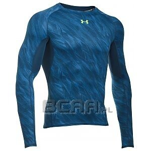 Under Armour Koszulka Męska Heatgear Armour Printed Longsleeve Compression 1258896-438 niebieski 1/6