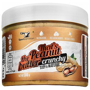 Sport Definition That's The Peanut Butter Crunchy 300g 1/2
