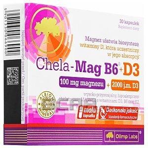 Olimp Chela Mag B6 + D3 30kaps. 1/3