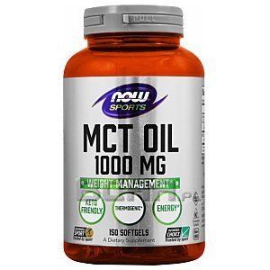 Now Foods MCT Oil 1000mg 150kaps. 1/2