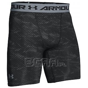 Under Armour Spodenki Męskie HeatGear® Armour® Compression Printed Short 1257473-004 szaro-czarne 1/8