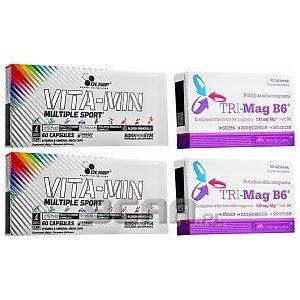 Olimp Vita-Min Multiple Sport + Tri-Mag B6 Magnez 120kaps+60tab. 1/3
