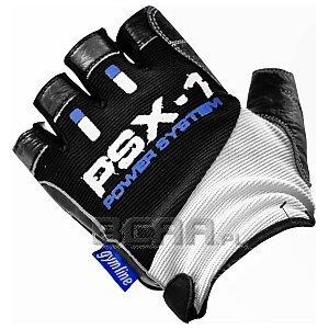 Power System Rękawice Treningowe PSX-1 (PS-2680) biało-czarno-niebieskie 1/4