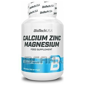 BioTech USA Calcium Zinc Magnesium 100tab. 1/1