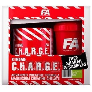 Fitness Authority Xtreme C.H.A.R.G.E. [ Charge ] 500g + Shaker i Próbki 1/4
