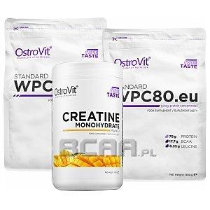OstroVit WPC 80.eu Standard + Monohydrate Creatine 2x900g+500g 1/3