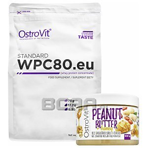 OstroVit WPC 80eu. Standard + Peanut Butter Honey 900g+500g [promocja] 1/3