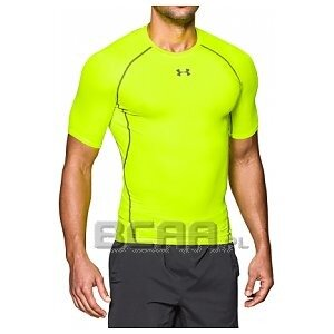 Under Armour Men`s Heat Gear Armour Compression Short Sleeve T-Shirt seledynowy 1/4
