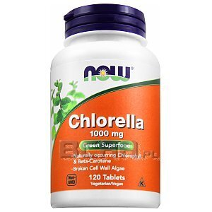 Now Foods Chlorella 1000mg 120tab 1/2