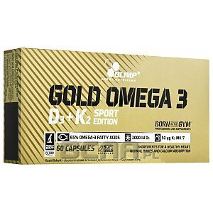 Olimp Gold Omega 3 D3+K2 Sport Edition 60kaps. 1/3