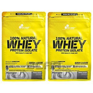 Olimp 100% Natural Whey Protein Isolate 2x600g 1/2