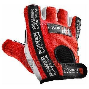 Power System Rękawice Treningowe Workout (PS-2200) czerwono-białe 1/2