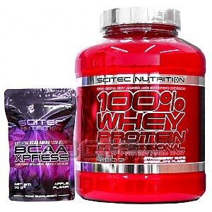 Scitec 100% Whey Protein Professional + BCAA Xpress 2350g + 70g 1/1