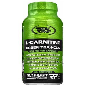 Real Pharm L-Carnitine + Green Tea + CLA 90kaps. 1/2