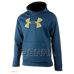 Under Armour Bluza Męska Storm Armour Fleece Big Logo Hoody 1259632-437 niebieski 1/4