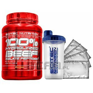Scitec 100% Hydrolyzed Beef Isolate Peptides + Gratisy 900g 1/1