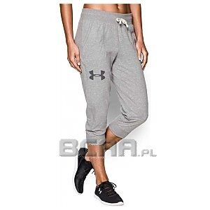 Under Armour Spodenki UNDER ARMOUR Charged Cotton Tri-Blend Capr 1260088-040 szary 1/5