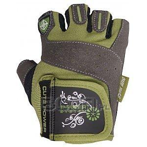 Power System Rękawiczki Treningowe Cute Power (PS-2560) szaro-zielone 1/2