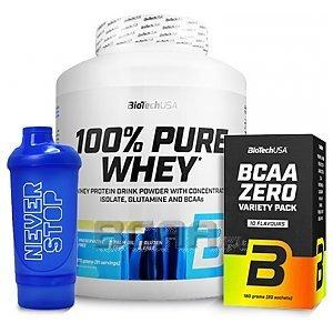 BioTech USA 100% Pure Whey + BCAA Variety Pack + Shaker 2270g+20sasz+650ml GRATIS! 1/4