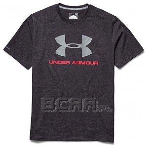 Under Armour Men`s Charged Cotton Sportstyle Logo T-shirt 1257615-093 ciemnoszary 1/2