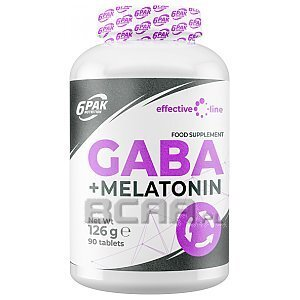 6Pak Nutrition Effective Line GABA + Melatonin 90tab. 1/1