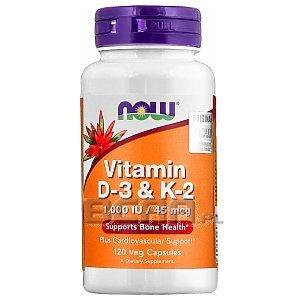 Now Foods Vitamin D3 & Vitamin K2 120kaps. 1/1