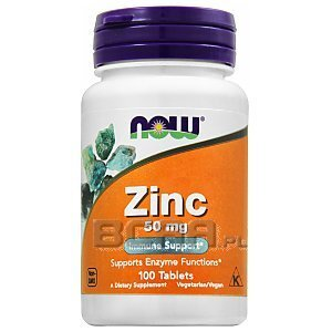 Now Foods Zinc Gluconate 50mg 100tab. 1/2