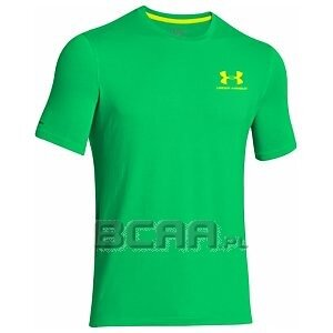 Under Armour Men`s Charged Cotton Sportstyle Left Chest Logo T-Shirt zielony 1/3