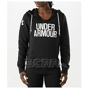 Under Armour Bluza Damska UA Favorite Fleece Wordmark Hoody 1264719-001 czarny 1/6