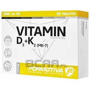 Formotiva Vitamin D3 + K2 MK-7 60tab. Wyprzedaż! 1/3