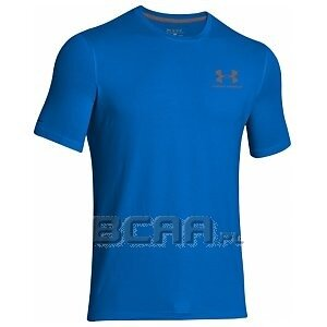 Under Armour Men`s Charged Cotton Sportstyle Left Chest Logo T-Shirt 1257616-400 niebieski 1/3
