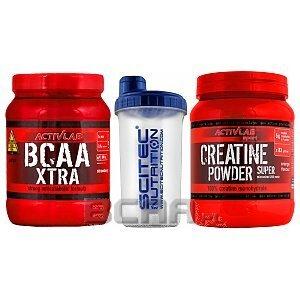 Activlab BCAA Xtra + Creatine Powder + Shaker 500g+500g+700ml 1/1