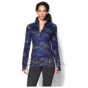 Under Armour Bluza damska UA Armour Coldgear Printed 1/4 Zip 1248527-540 granatowy mix 1/3