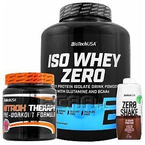 BioTech USA Iso Whey Zero + Nitrox Therapy + Zero Shake 2270g+340g+330ml 1/4