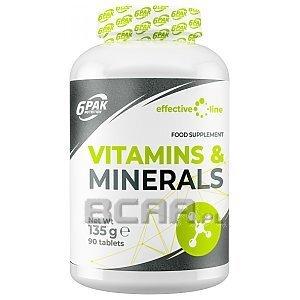 6Pak Nutrition Effective Line Vitamins & Minerals 90tab. 1/1
