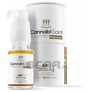 CannabiGold Olejek CBD Premium 1500mg 12ml [promocja] 1/3