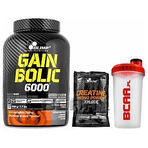 Olimp Gain Bolic 6000+Creatine Mono Power Xplode+ Shaker 3500g+220g+700ml GRATIS! 1/1