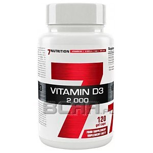 7Nutrition Vitamin D3 2000 120kaps. 1/1