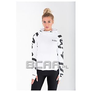 Trec Wear Bluza Hoodie TrecGirl 041 White-Black 1/4