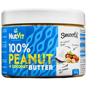 NutVit 100% Peanut + Coconut Butter Smooth 500g 1/1