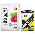 100% LABS Elite WPC 80 Instant + Fitness Authority Xtreme Napalm Pre-Contest